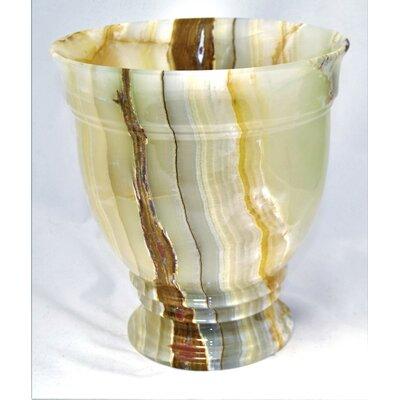 Mediterranean Waste Basket by Nature Home Decor
