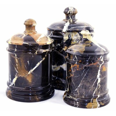 Michelangelo marble kitchen canister wayfair for Hearth and home designs canister set