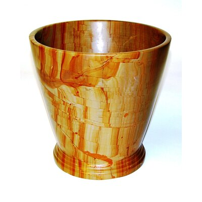 Waste Basket in Teakwood Marble by Nature Home Decor