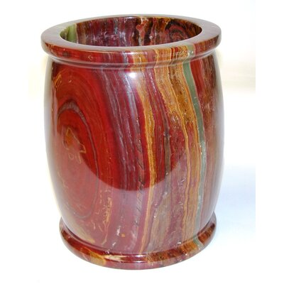 Onyx Waste Basket by Nature Home Decor