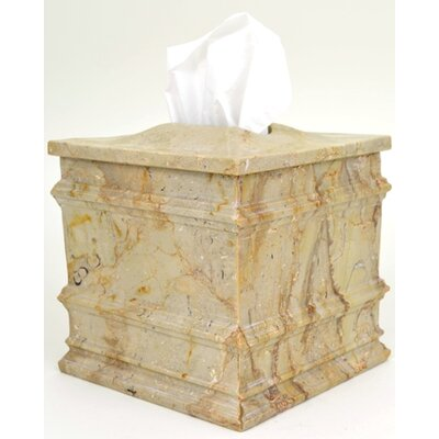 Sahara Beige Marble Tissue Holder by Nature Home Decor