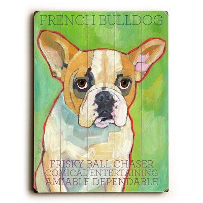 French Bulldog Wood Sign by Artehouse LLC