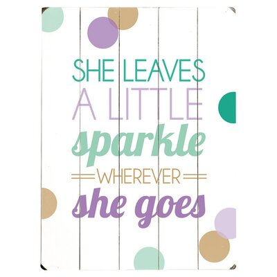 She Leaves a Sparkle Wood Sign by Artehouse LLC
