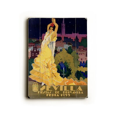 Artehouse LLC Sevilla Planked Vintage Advertisement Plaque