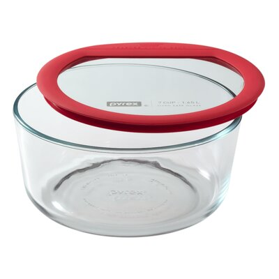 Premium Glass Lids 7 Cup Round Storage Dish by Pyrex