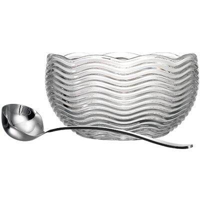 Capri 160 Oz. Punch Bowl with Ladle by Godinger Silver Art Co