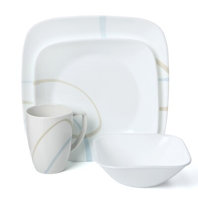 Sand and Sky 16 Piece Dinnerware Set by Corelle