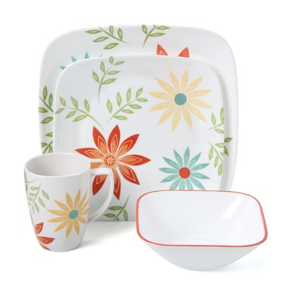 Corelle Happy Days 16 Piece Dinnerware Set