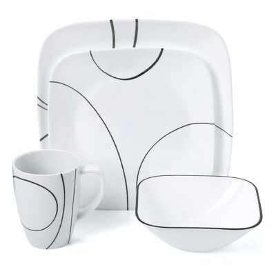 Simple Lines 16 Piece Dinnerware Set by Corelle