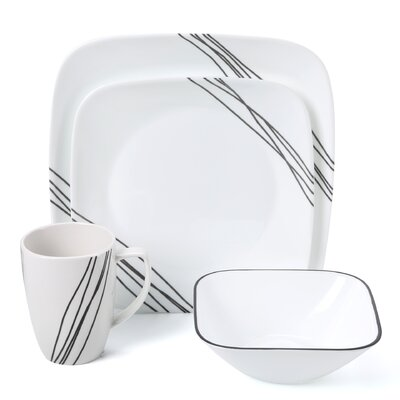 Simple Sketch 16 Piece Dinnerware Set by Corelle
