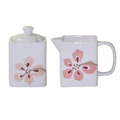Corelle Pretty Pink Sugar and Creamer Set