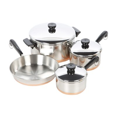 1400 Line Stainless Steel 7 Piece Cookware Set by Revere Cookware