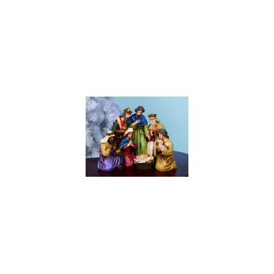 Christmas Nativity with Holy Family and Wise Men Figurine by Transpac Imports, Inc