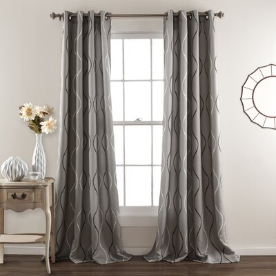 Swirl Curtain Panel (Set of 4) Product Photo