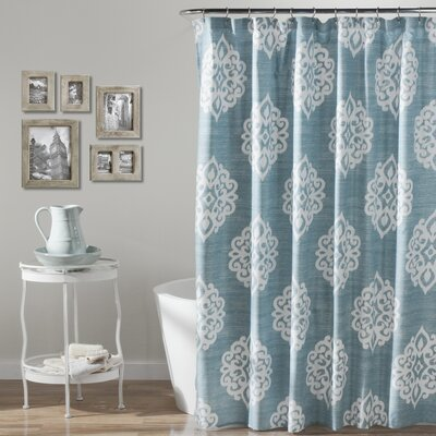 Sophie Polyester Shower Curtain by Lush Decor