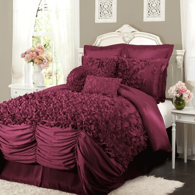 Lucia 4 Piece Comforter Set by Lush Decor