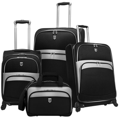 Expandable 4 Piece Spinner Luggage Set by Beverly Hills Country Club