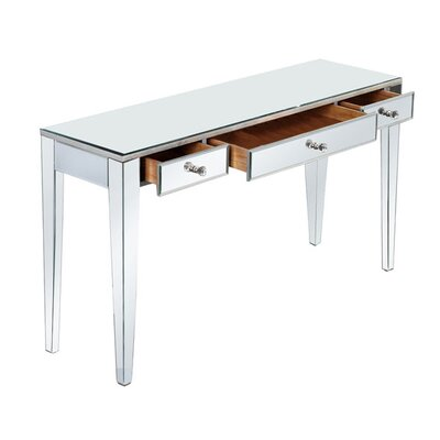 Mirage Writing Desk with Drawers by Elegant Lighting