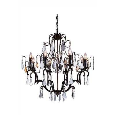 Charlotte 8 Light Crystal Chandelier by Elegant Lighting