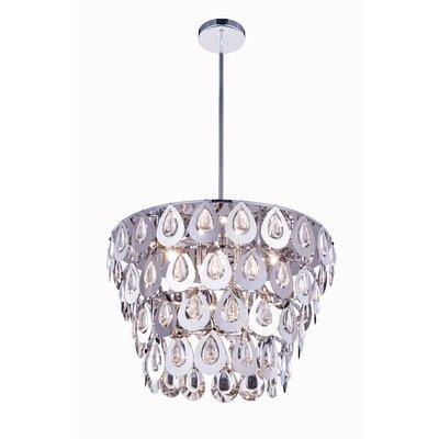 Sophia 6 Light Crystal Pendant by Elegant Lighting