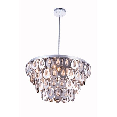 Sophia 8 Light Crystal Pendant by Elegant Lighting