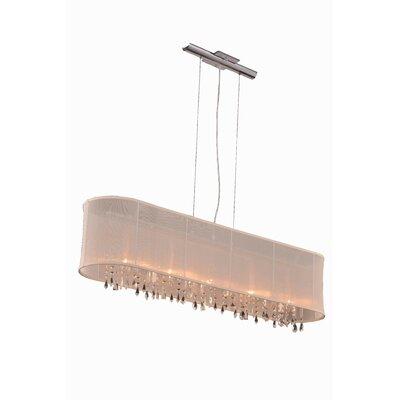 Harmony 5 Light Kitchen Island Pendant by Elegant Lighting