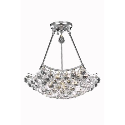 Corona 8 Light Crystal Chandelier by Elegant Lighting
