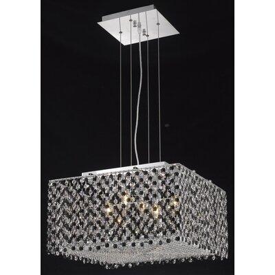 Moda 5 Light Kitchen Island Pendant by Elegant Lighting