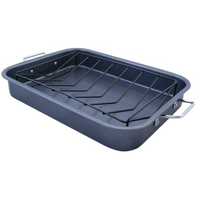 The Premium Connection KitchenWorthy Roasting Pan with V-Rack