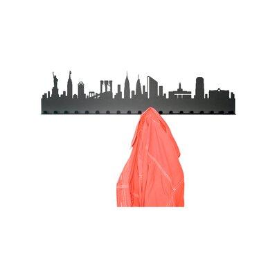 Radius Design City Skyline 19 Hook Wall Mounted Coat Rack