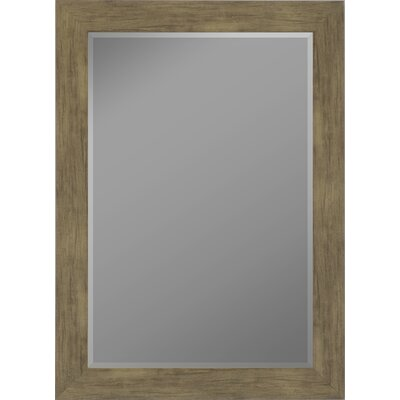 Weathered Sand Barn Siding Grande Framed Wall Mirror by Second Look Mirrors