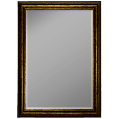 Austrian Stepped Mahogany Framed Wall Mirror by Second Look Mirrors