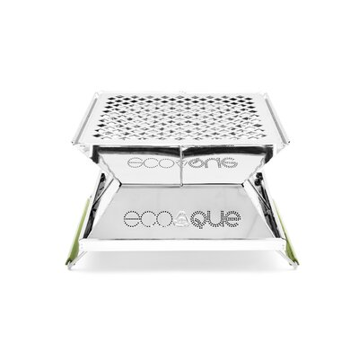 """EcoQue Portable 15"""" Stainless Steel Grill"""