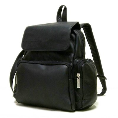 Women's Multi Pocket Backpack by Le Donne Leather