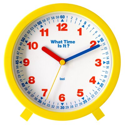 """Bai Design 6"""" What-Time-Is-It Learning Clock"""