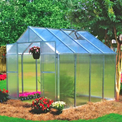 Monticello 8 Ft. W x 8 Ft. D Premium Polycarbonate Greenhouse by Riverstone Industries ...