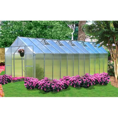 Monticello 8 Ft. W x 24 Ft. D Polycarbonate Greenhouse by Riverstone Industries Corporation