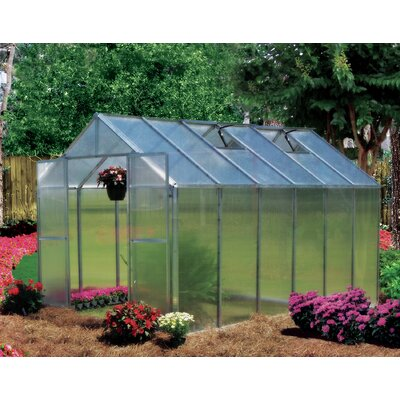 Monticello 8 Ft. W x 12 Ft. D Polycarbonate Greenhouse by Riverstone Industries Corporation