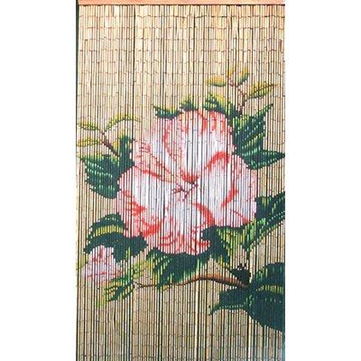 Bamboo54 Natrual Bamboo Flower Single Curtain Panel