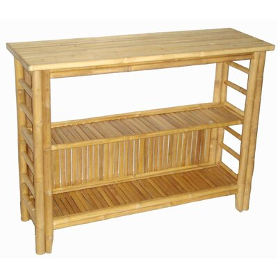 Fancy Console Table with Shelf by Bamboo54