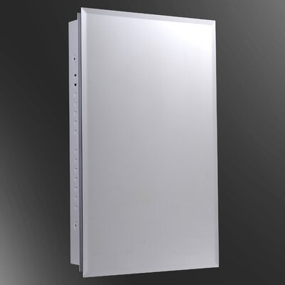 "Euroline 16"" x 26"" Recesssed Polished Medicine Cabinet Product Photo"