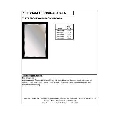 Ketcham Medicine Cabinets Theft Proof Wall Mirror ...