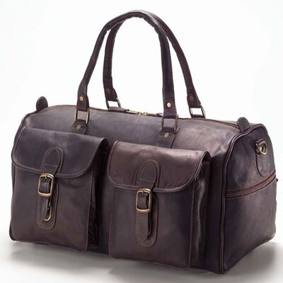 "Clava Leather Colored Vachetta 19"" Leather Travel Duffel"