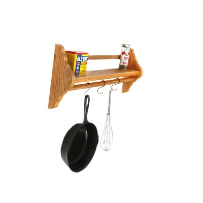 Wall Mount Pot Rack by Laurel Highlands Woodshop