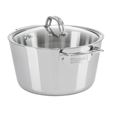Contemporary 5.2 Qt. Stainless Steel Round Dutch Oven by Viking