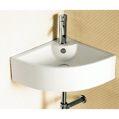 Ceramica Corner Vessel Bathroom Sink Product Photo