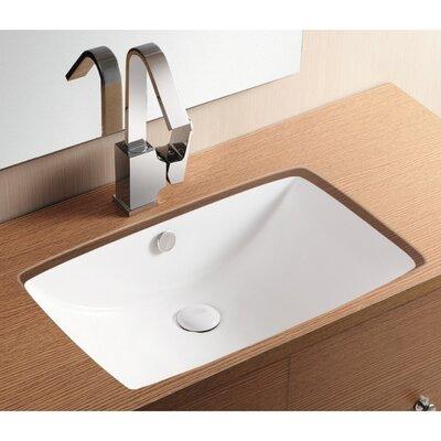 Ceramica II Undermounted Bathroom Sink by Caracalla