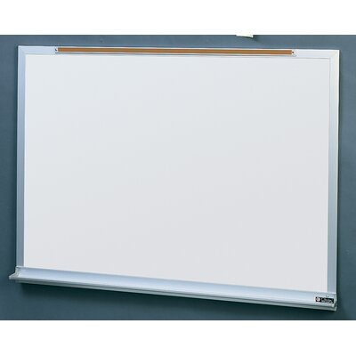 Claridge Products Series 1300 Factory-Built Wall Mounted Whiteboard, 4' x 3'