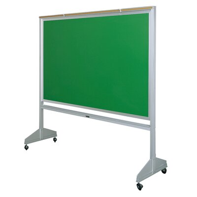 Claridge Products Deluxe Two-Sided Free-Standing Chalkboard, 4' x 6'