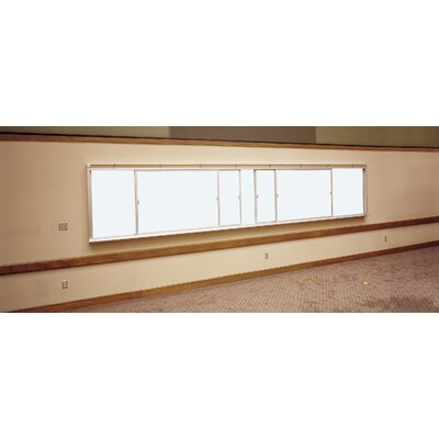Claridge Products Two-Track Horizontal Unit Wall Mounted Whiteboard, 4' x 12'